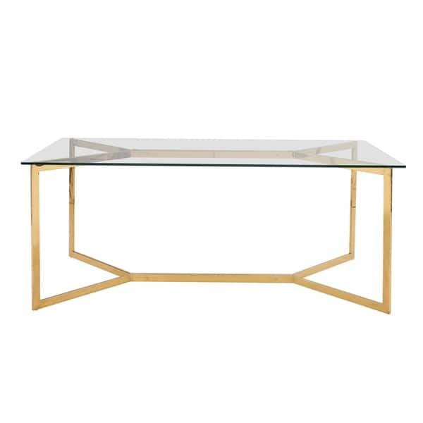 Campbell Gold 75 Inch Dining Table Overstock 27601575