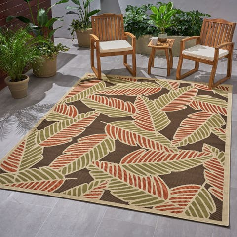 Christopher Knight Home Lindgren Outdoor Botanical Area Rug