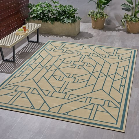 Christopher Knight Home Gatsby Outdoor Geometric Area Rug