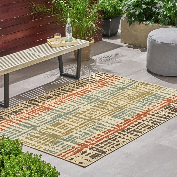 Christopher Knight Home Lima Contemporary Outdoor Area Rug