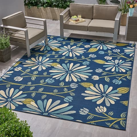 Daisy Outdoor Floral Area Rug by Christopher Knight Home