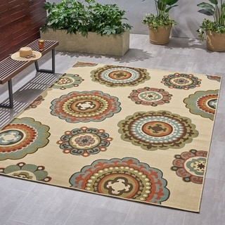 Christopher Knight Home Mulholland Outdoor Suzani Area Rug