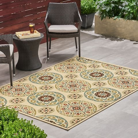 Christopher Knight Home Oliver Outdoor Medallion Area Rug