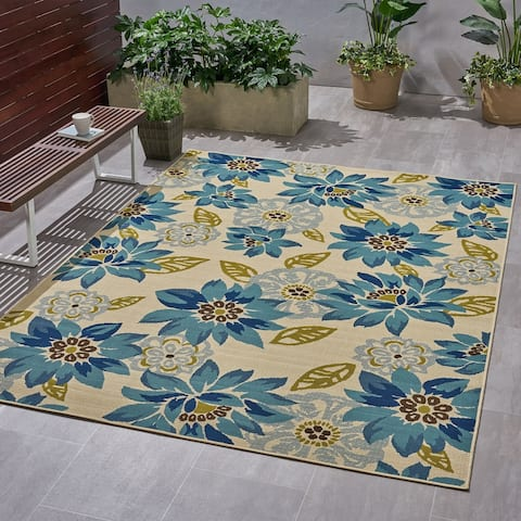 Christopher Knight Home Wildwood Outdoor Floral Area Rug