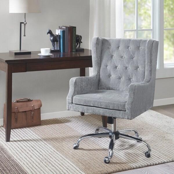 Madison Park Roan Light Blue Office Chair