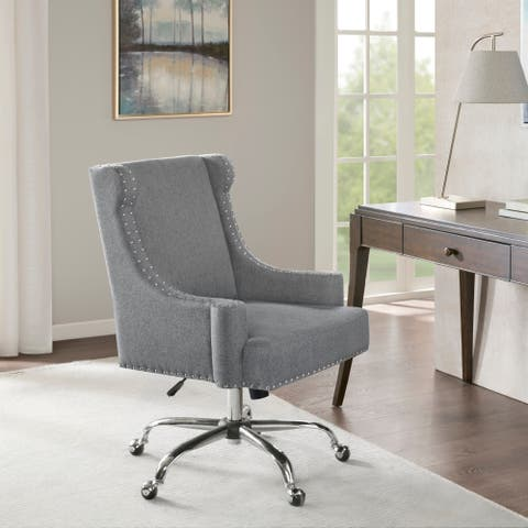 Madison Park Lucy Light Grey Office Chair
