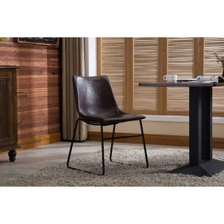 Porthos Home Etta Modern Dining Chairs Set Of 2, PU Leather Seat