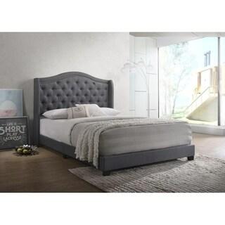 Copper Grove Kyustendil Upholstered Wingback Panel Bed