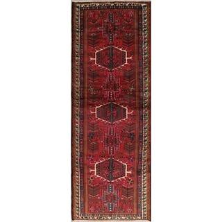 """Gharajeh Tribal Geometric Handmade Wool Persian Oriental Rug - 9'10"""" x 3'5"""" Runner"""
