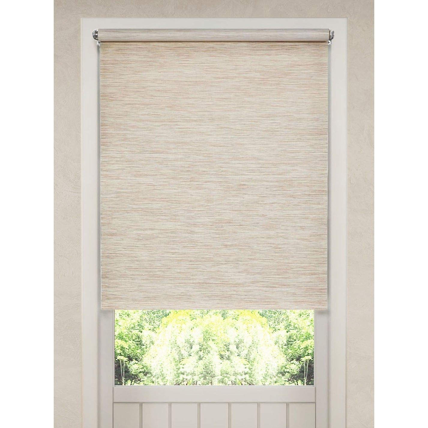 Natural Fiber Heather Tan Cordless Roller Shade On Sale Overstock 27611527