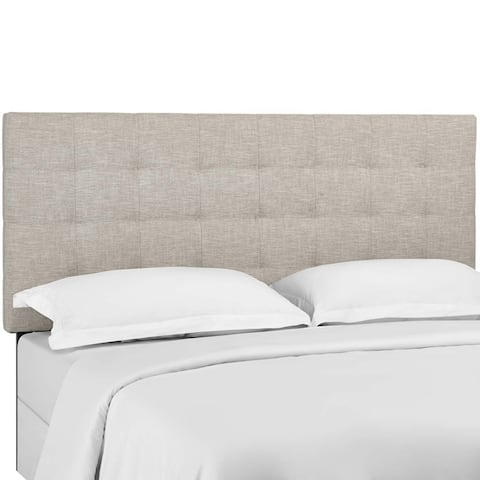 Copper Grove Vodice Tufted Twin Upholstered Linen Headboard