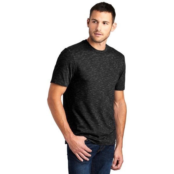 District Made Mens Rib Knit Neck Medal Tee