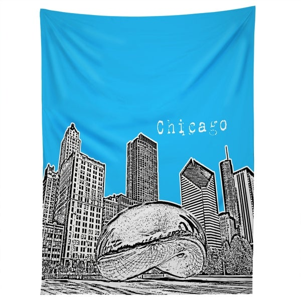 Deny Designs Chicago Illinois Blue Tapestry (2 Size Options)