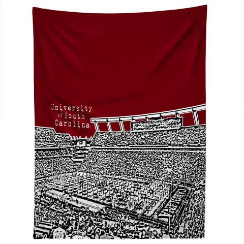Deny Designs University Of South Carolina Dark Red Tapestry (2 Size Options)