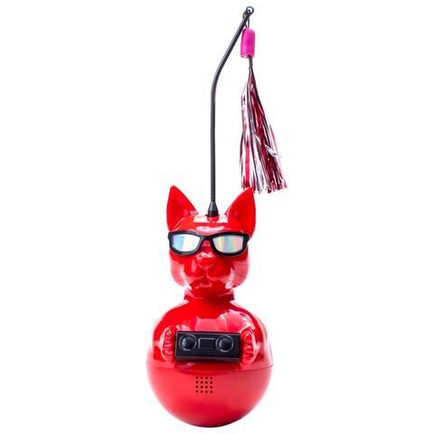 DJ Whiskerz Interactive Cat Toy with Wireless Speaker & Cat Nip Holder