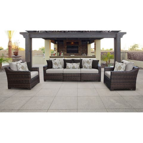 Kathy Ireland River Brook 6-piece Wicker Patio Furniture Set