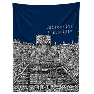 Deny Designs University Of Michigan Navy Tapestry (2 Size Options)