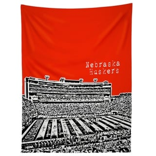 Deny Designs Nebraska Huskers Red Tapestry (2 Size Options)