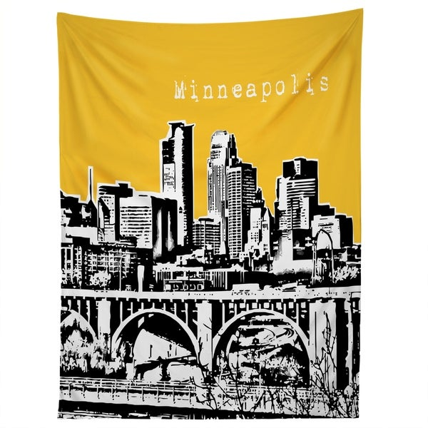 Deny Designs Minneapolis Yellow Tapestry (2 Size Options)