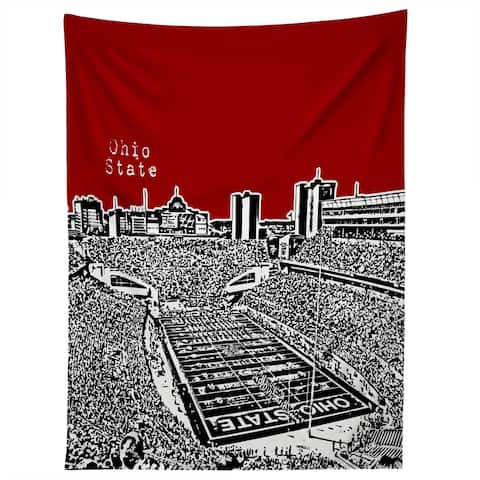 Deny Designs Ohio State Buckeyes Red Tapestry (2 Size Options)