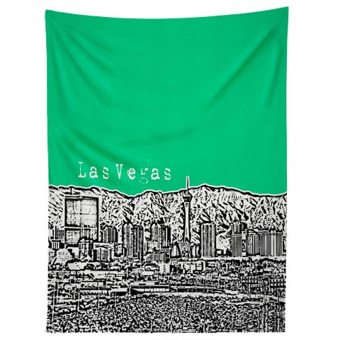 Deny Designs Las Vegas Green Tapestry (2 Size Options)