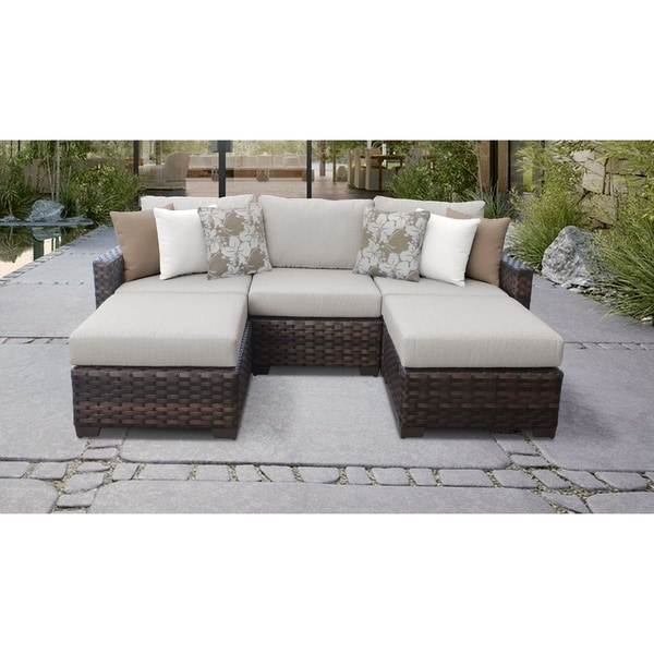 Shop Kathy Ireland River Brook 5 Piece Outdoor Wicker Patio