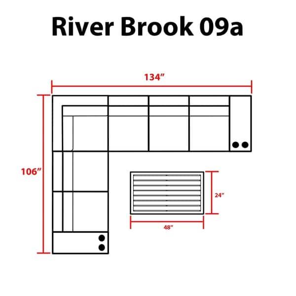 Kathy Ireland River Brook 9 Pc Outdoor Wicker Patio Set Overstock 27615233