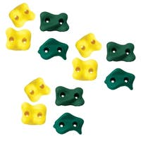 Swing-N-Slide Climbing Rocks - Green and Yellow (12-Pack) - 12 Pack