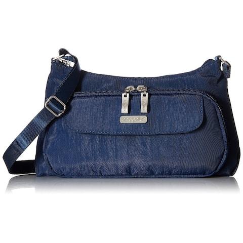 Baggallini Anuschka Hand Painted Designer Leather Handbag Crossbody - EVB477PICD - Zipper