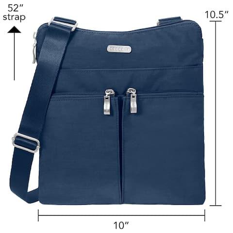 Baggallini Horizon Lightweight Crossbody Bag - Multi-Pocketed - Travel Purse - HRZ649PICD - Zipper