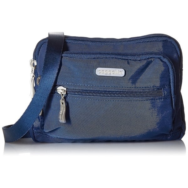 6137280e3 Shop Baggallini Triple Zip Bag Crossbody Bag to Wallet Purse or Waist Pack  - TRZ419PICD - Zipper - Free Shipping On Orders Over $45 - Overstock -  27615781