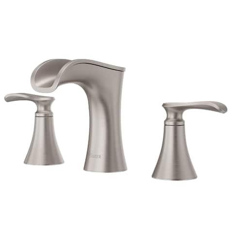 Pfister Jaida Brushed Nickel Metal 8-inch 2-handle Widespread Bathroom Faucet
