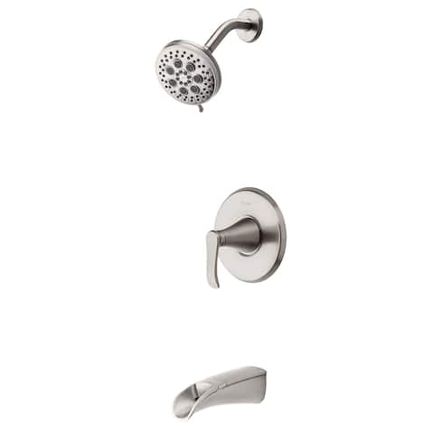 Pfister Jaida Brushed Nickel 1-Handle Tub and Shower Faucet with Spot Defense