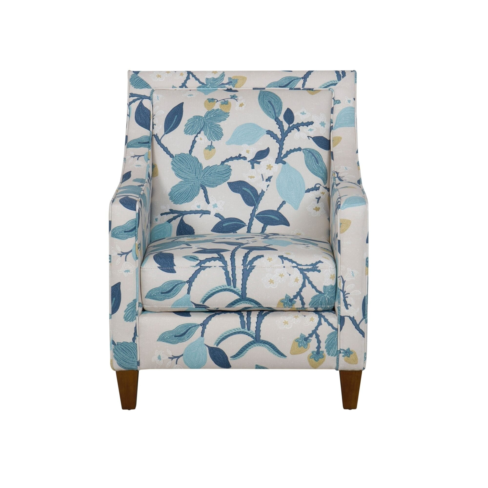 Phenomenal Copper Grove Holubivka Blue Floral Modern Accent Chair Gmtry Best Dining Table And Chair Ideas Images Gmtryco
