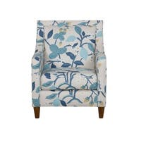 HomePop Edwin Blue Floral Modern Accent Chair