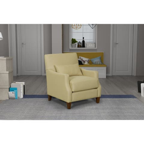 HomePop Pillowtop Edwin Accent Chair - Taupe