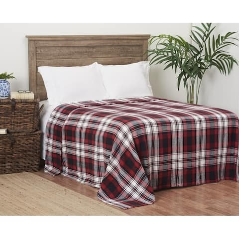 Fireside Plaid Cotton Blanket