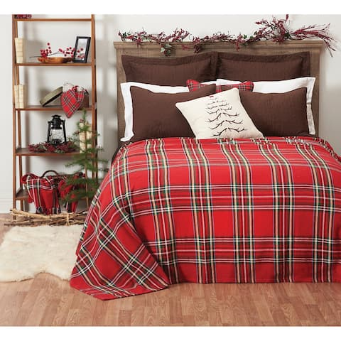 Arlington Plaid Cotton Blanket