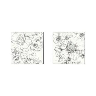 Lisa Audit 'Summer Bloom BW' Canvas Art (Set of 2)