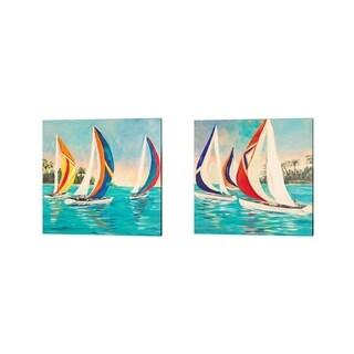 Julie DeRice 'Sunset Sails' Canvas Art (Set of 2)