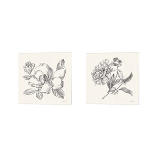 Danhui Nai 'Flower Sketches' Canvas Art (Set of 2)