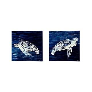 Julie DeRice 'Swim Along' Canvas Art (Set of 2)