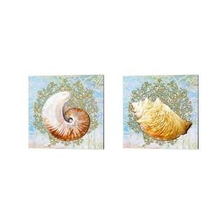 Diannart 'Shell Medley' Canvas Art (Set of 2)