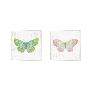 Sue Schlabach 'White Barn Butterflies' Canvas Art (Set of 2)