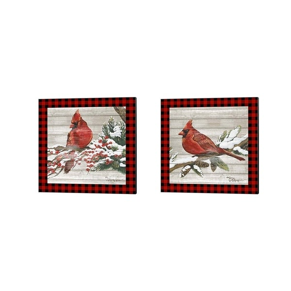 Tiffany Hakimipour 'Winter Red Bird' Canvas Art (Set of 2)