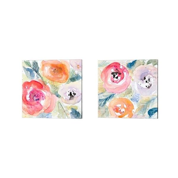 Lanie Loreth 'Blooms Abound' Canvas Art (Set of 2)