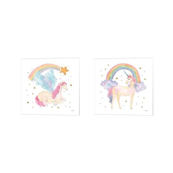 Jenaya Jackson 'Magical Friends B' Canvas Art (Set of 2)