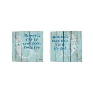 Julie DeRice 'Mermaid Saying' Canvas Art (Set of 2)