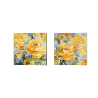 Lanie Loreth 'Modern Peonies' Canvas Art (Set of 2)