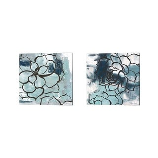 Lanie Loreth 'Cool Vision Floral' Canvas Art (Set of 2)